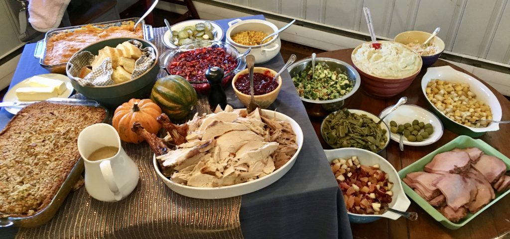 Thanksgiving Dinner on Table